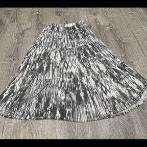 Velvet Boho Grey Long Skirt Small